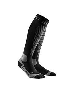 CEP - Ski Merino socks black/antracite - Zwart - grijs