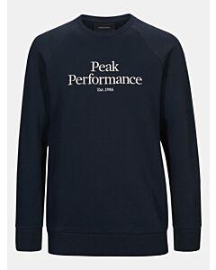PEAK PERFORMANCE - M Original Crew sweat - marine combi