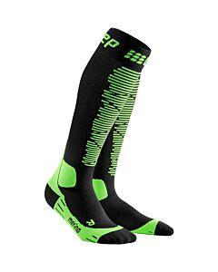 CEP - merino socks black/green men - Zwart-Multicolour